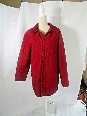 BARBOUR Men's Classic Eskdale Red Quilted Snap Button Jacket Size M