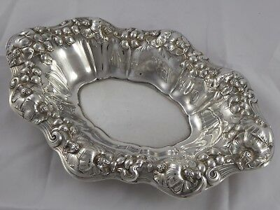 ANTIQUE AMERICAN SOLID STERLING SILVER FRUIT BOWL WILCOX & WAGONER c1910 310 g