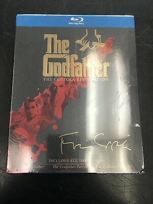 The Godfather 3 Film Trilogy Collection Blu-ray [New] The Coppola Restoration