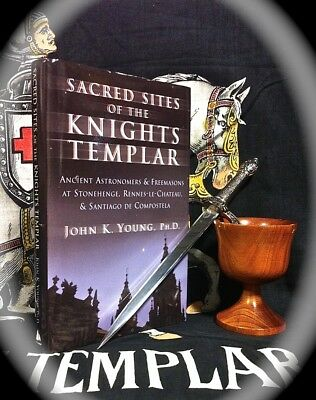 YOUNG: SACRED SITES OF THE KNIGHTS TEMPLAR ~ O.O.P 2003 HC w D/J  OCCULT MASONIC