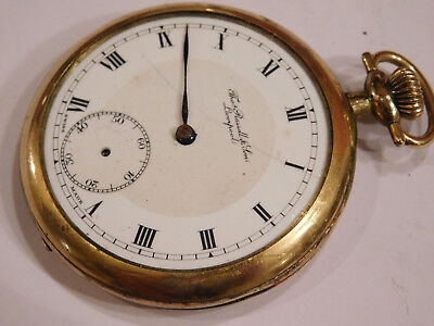 Antique Gold Filled Pocket Watch By Thomas Russell, Liverpool For Spare Parts.