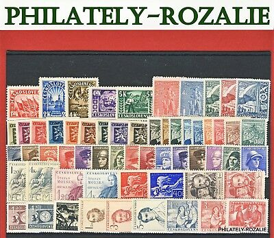 Czechoslovakia  Stamps ** Mnh ** Year  1945 - 1948 Mix Stamps