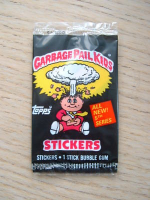 Garbage Pail Kids 5th series 5 Topps UK Ireland sealed pack (Gang) *STOCK PHOTO*