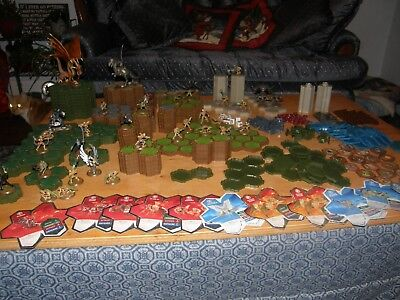 Large Lot Heroscape Terrain Tiles Figures and Cards - VGC- Take a Look!
