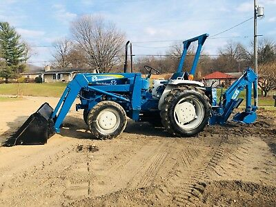 New Holland 4X4 Ford 1710 Tlb Tractor Backhoe Loader Bob Cat 3 Point 540 Pto