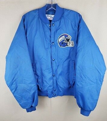 Vintage New York Giants Chalk Line Jacket Blue RARE NFL American Football XL 73c95f167