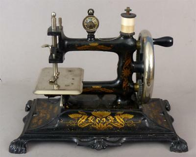 Antique, Hand Crank, German, Child's, Sewing Machine, Excellent!