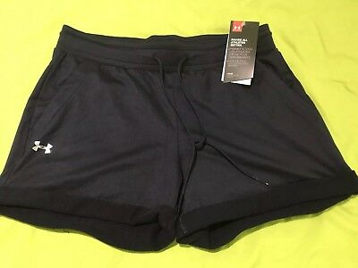 NEW WITH TAGS Woman's Under Armour Loose Coupe Lache Shorts Black Large