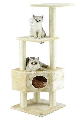 """ESU Pets CAT Tree 47"""" Scratcher Play House Condo Furniture Bed Post Pet House"""