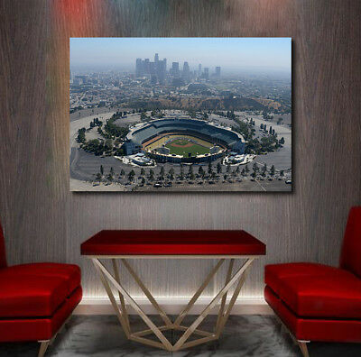 Dodger Stadium with Los Angeles Downtown in the Distance - Great shot I Love LA