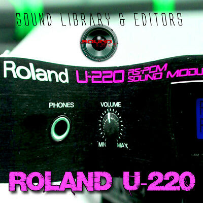 for ROLAND U-220 Original Factory and New Created Sound Library & Editors on CD