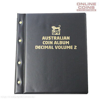 VST Decimal Coin Album Padded Cover Printed Interleaves - VOLUME 2  BLACK