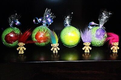 Bulk Lot 10 Troll Doll Surprise Bath Bombs Troll party favors Wholesale Lot