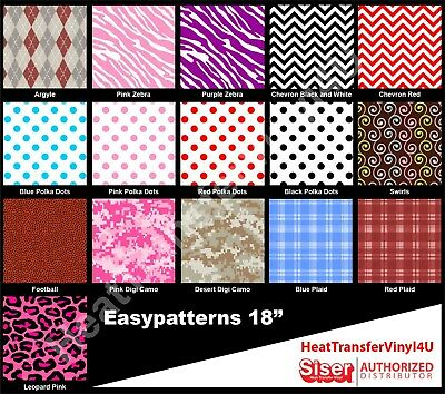 Siser EasyPatterns Iron On Heat Transfer Vinyl 18 Inches by 12 Inches