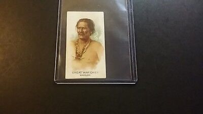 """1888 N2 Allen & Ginter """"celebrated American Indian Chiefs"""" Great War Chief"""