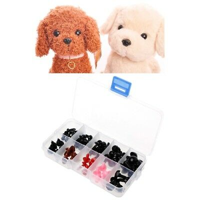 75Pcs 6-12mm Plastic Safety Eyes Nose For Plush Doll Puppet Figure Craft Box