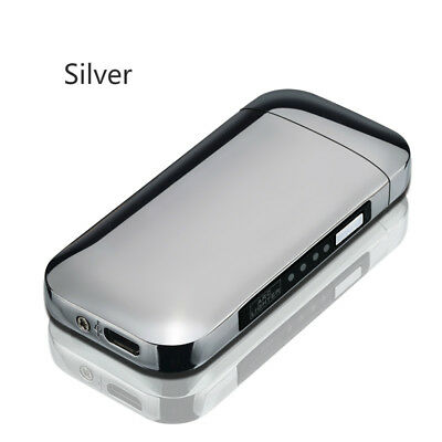 USB Rechargeable Electric Dual-Arc Windproof Cigarette Lighter Battery Indicated