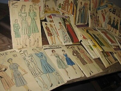 90 Vintage sewing Patterns 1940s Advance Dresses MOSTLY 1970s 15 child maternity