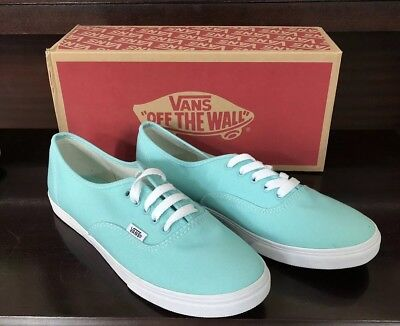 452d335c99bc VANS Authentic LO PRO Aqua Splash   True White skate canvas shoe NEW Women  Sz 9