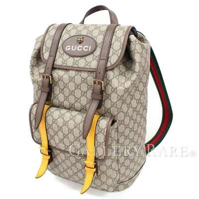 GUCCI Backpack Soft GG Supreme Canvas Beige Logo 473869 Italy Authentic  4899846 d71414d7e2858