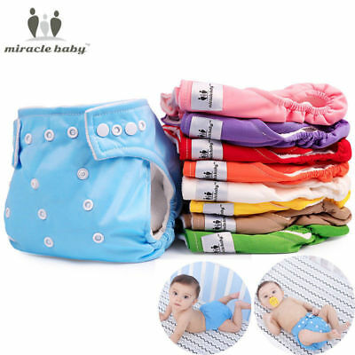 New Baby Washable Diapers Cover Reusable Infant Loop Pocket Nappy Insert Cloth