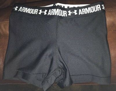 """Under Armour women compression 3"""" inseam Shorty Shorts NEW WITH TAGS NAVY/Medium"""