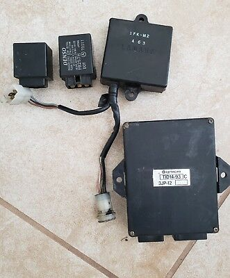 Ignition CDI ECU Computer, flasher relay, fuel pump relay 1998 Yamaha Vmax 1200