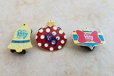 Disney Trading Pins Lot of 3 Very Merry Christmas Set Ornament Minnie Bell 2017