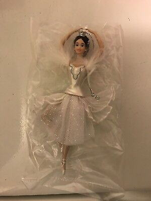 BARBIE AS THE SWAN QUEEN PORCELAIN Xmas Ornament Collectible, COA, 1998 BY AVON