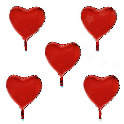 """15x 18"""" Red Heart Love Foil Helium Balloons Birthday Wedding Celebration Party"""
