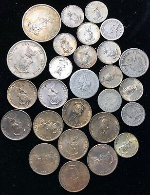1907 to 1945 10c, 20c, & 50c US-Philippines  Silver Coins 27 pcs - lot#1