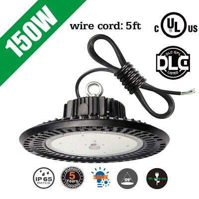 DLC 150W LED UFO High Bay Light IP65 Industrial Workshop Warehouse Lights 5000K