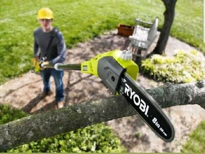 Cordless Pole Pruner Saw Ryobi 18V ONE Lithium Ion 9.5' Tree Trimmer Chainsaw