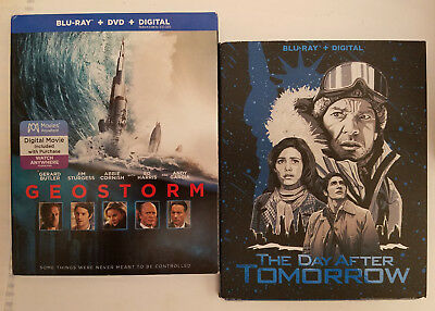 Geostorm + The Day After Tomorrow (Blu-ray + DVD + Slip Cover, NO DIGITAL)