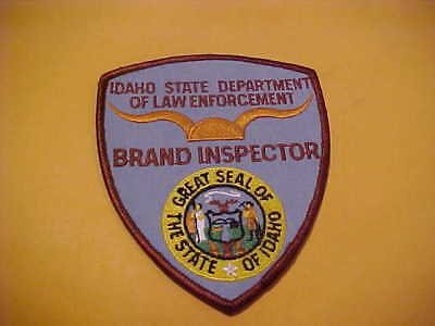 Idaho State Brand Inspector Police Patch Shoulder Size Unused