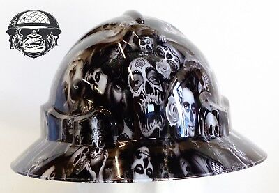 Australian customized wide brim hard hats (Hydrographic Safety DAY OF THE DEAD