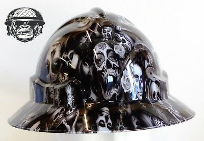 Custom hydrographic wide brim safety hard hat DAY OF THE DEAD WIDE