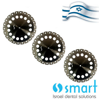 Lot X 3 Dental Lab Diamond Plaster Cutting disc Israel made 45x0.37 stone die 4