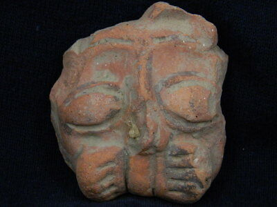 Ancient Teracotta Lion Head Bactrian C.300 BC #TR5914