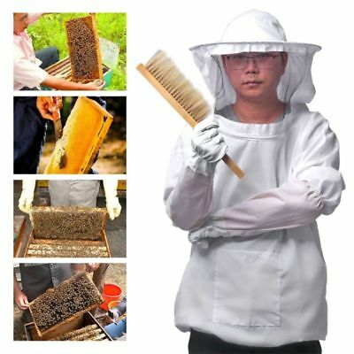 Beekeepers Bee Suit with Fencing Veil Gloves Bee Hive Brush J Hook Hive Tool Set