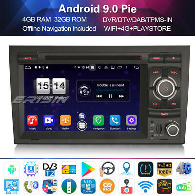 Android 8.1 DAB+Autoradio GPS NAVI  for Audi A4 B7 S4 RS4 RNS-E Seat Exeo 8-Core
