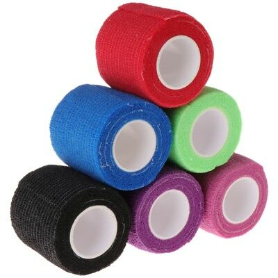 6pcs Disposable Self-adhesive Elastic Bandage for Handle Grip Tube Tattoo