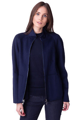 STRENESSE Cashmere & Wool Short Coat Size 36 / S Full Zip Funnel Neck RRP €599