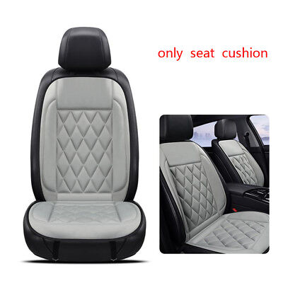 Car Van Heated Heating Front Seat Cover 12V Padded Thermal Cushion Winter Warmer