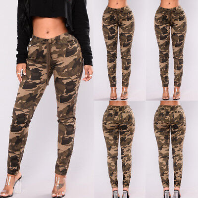 f84459a907135 Womens Camo Cargo Trousers Casual Pants Military Army Combat Camouflage  Pant LOT