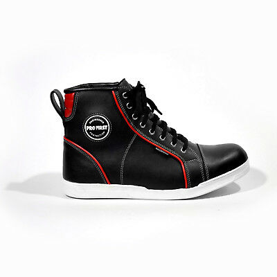Motorbike Motorcycle Sneaker Shoes Waterproof Leather Touring Boots CE Armoured