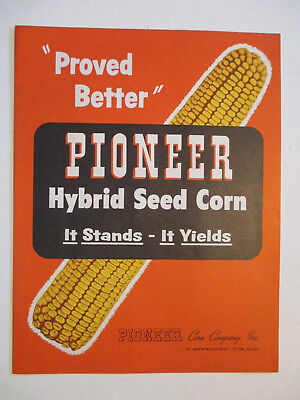 "Pioneer Seed Corn Brochure. Great Graphics 1950's-60's. 8 1/2"" X 11""advertising"