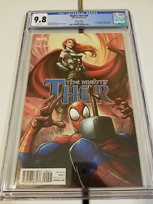 Mighty Thor #20 Cgc 9.8 Patrick Brown Variant  Mary Jane Spiderman Cover Nm+