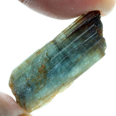 19.76 Ct. Green Blue Kyanite Natural Rough Gemstone Unheated  Free Shipping!!
