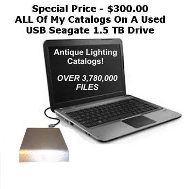 ENTIRE COLLECTION Special Deal On Used USB Drive ALL Antique Lamp Light Catalogs